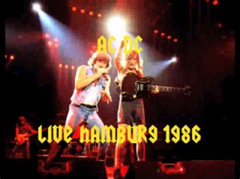 AC/DC Live In Hamburg 1986 ( Audio Only ) - YouTube