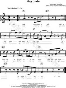 """The Beatles """"Hey Jude"""" Sheet Music for Beginners in C"""