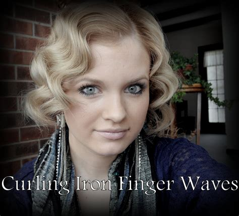 Finger Waves With A Curling Iron- BEST video I have seen actually- quick and eeasy
