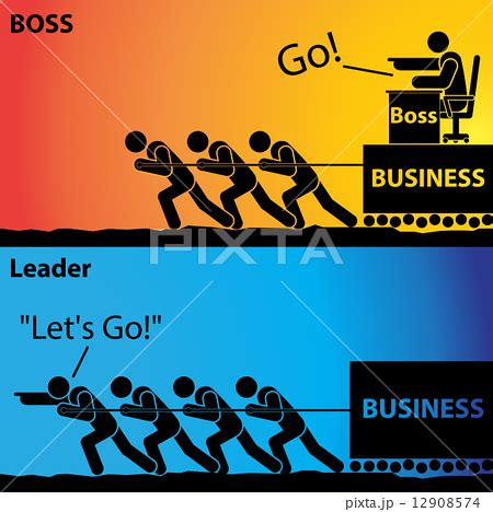 Go! or Let's Go!, Leader Business or Boss Business のイラスト素材 [12908574