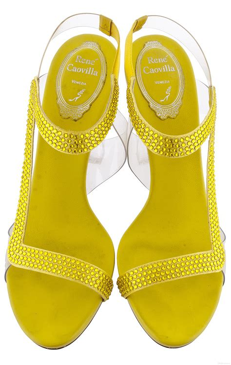 Yellow Crystal Sandals - Shoes