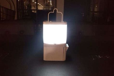 Lamp runs for 8 hours on one glass of water and some salt